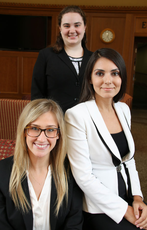 Jessen Baker, Samantha Scheuler, and Kristina Semeryuk, Notre Dame Law School Church, State & Society Fellowship Award