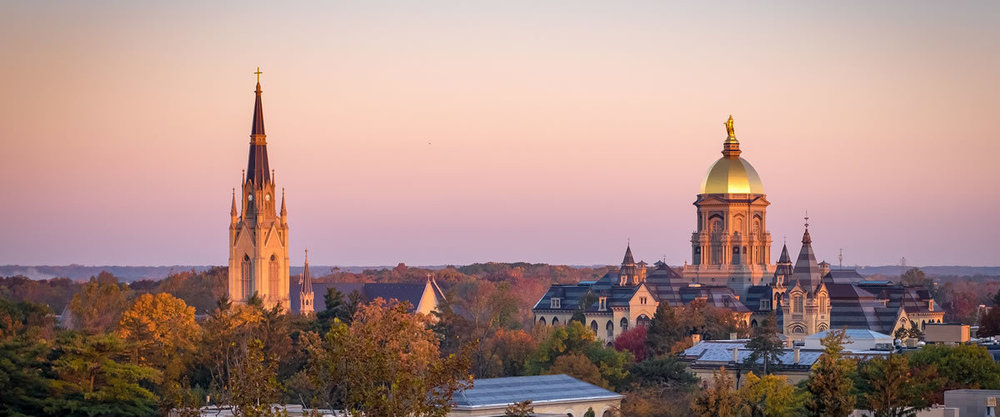 Nd Campus Skyline Sunrise