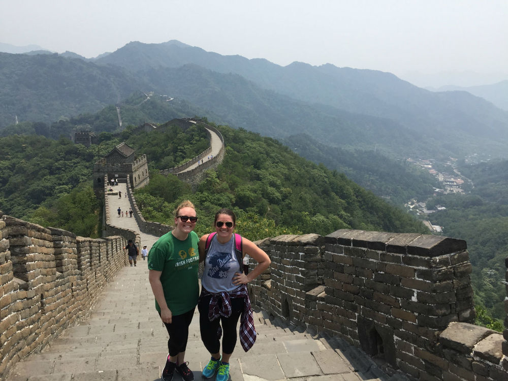 Shelby and Lara on the Great Wall
