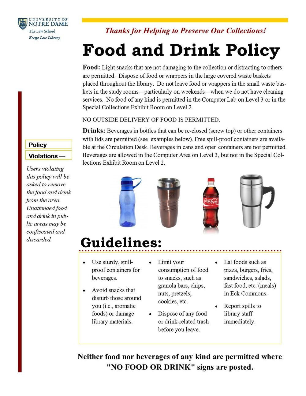 Food And Drink Policy 2