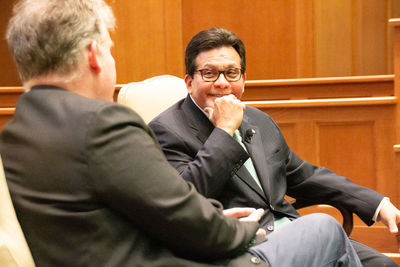Former U S  Attorney General Alberto Gonzales visits ND Law