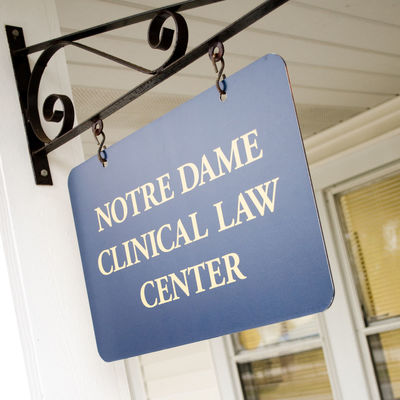 Clinical Law Center Sign
