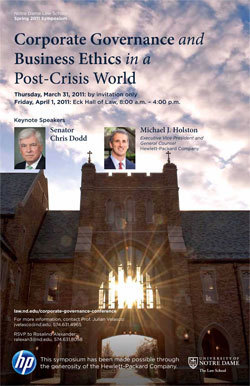 Corporate Governance and Business Ethics in a Post-Crisis World Poster