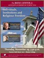 Individuals Institutions religious freedom poster