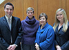Matt O'Rourke, Professor Barbara Fick, Professor Judy Fox, and Sarah Burch